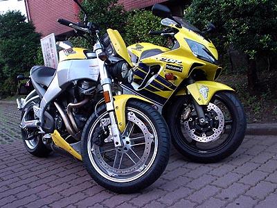 CBR600F4iとXB9S Lightning