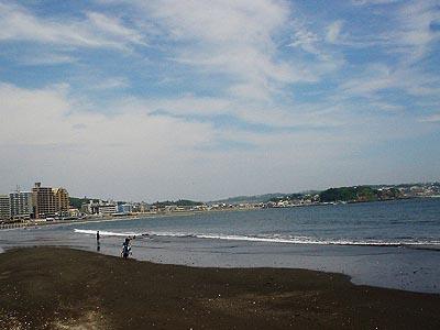 江ノ島から七里ヶ浜を望む